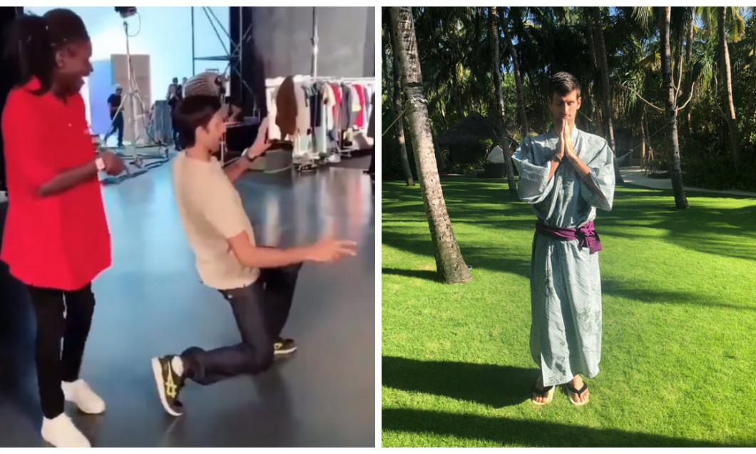 Djokovic samurai si breakdance