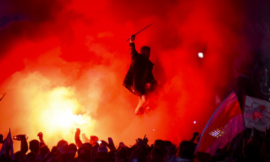 River Fans Celebrate Winning the Copa CONMEBOL Libertadores 2018