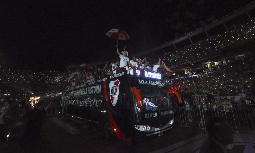 River Plate Celebrate After They Win Copa Libertadores Final