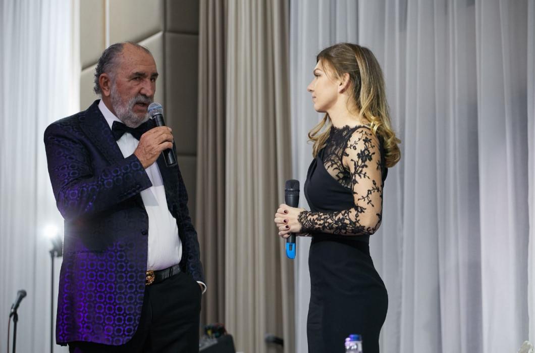 Simona Halep alături de Ion Țiriac