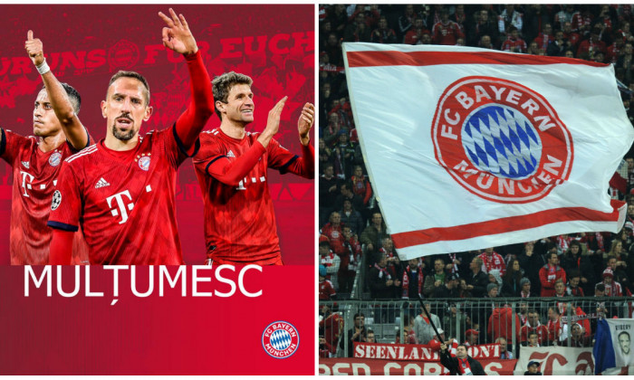 Bayern mesaj multumire fani