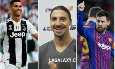 Ronaldo Zlatan si Messi