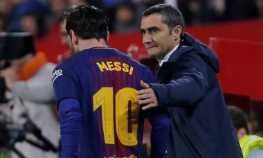 Ernesto Valverde si Lionel Messi