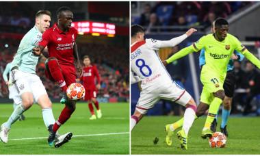 Lyon-Barca si Liverpool-Bayern