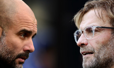 Manchester City v Liverpool FC - Premier League. Guardiola și Klopp