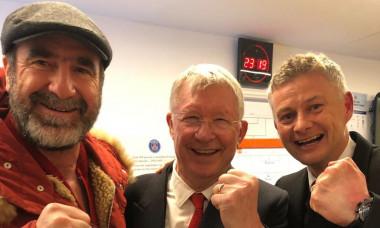 Cantona, Sir Alex Ferguson, Ole Gunnar Solskjaer