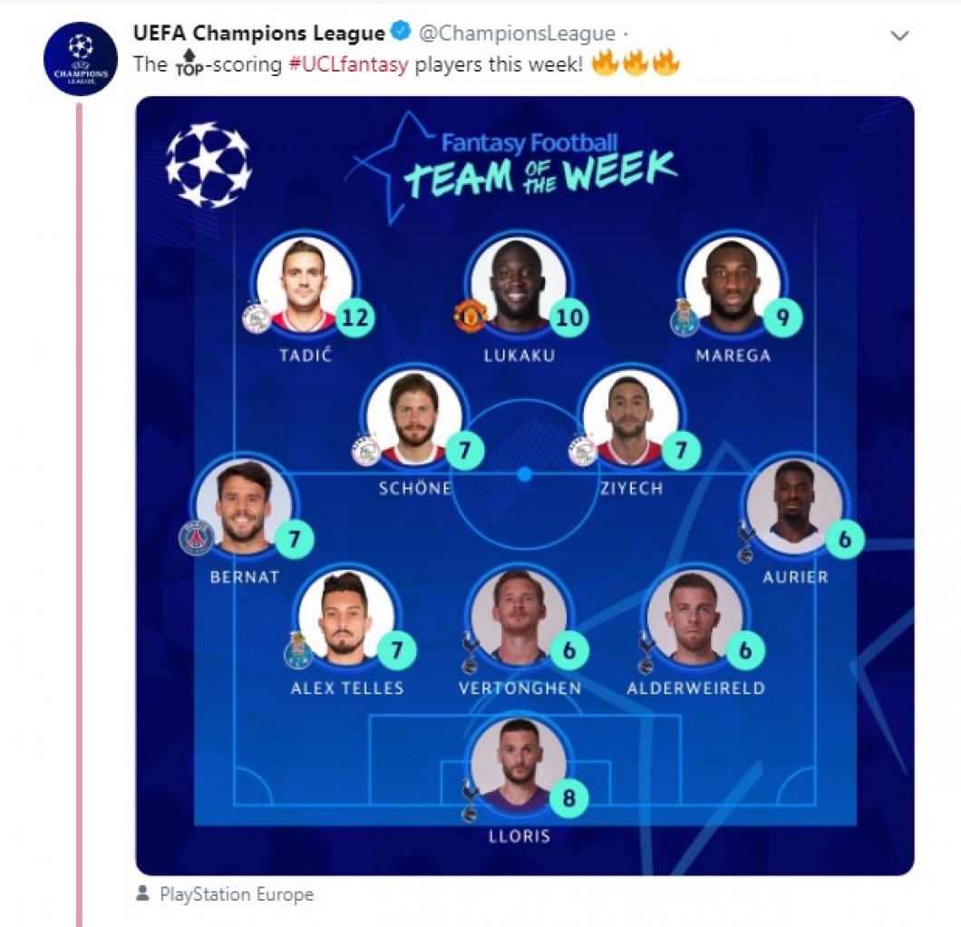 echipa saptamanii uefa