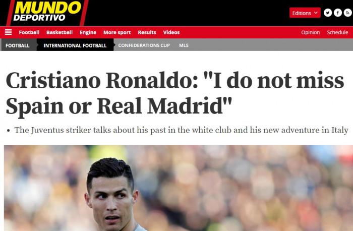 Captura din Mundo Deportivo