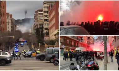 Barcelona - Lyon politie suporteri