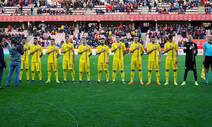 Romania U 21 amical in Spania