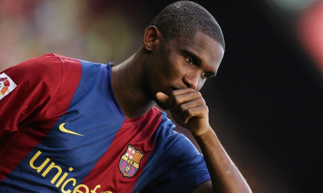 Samuel Eto'o pe vremea cand evolua la Barcelona