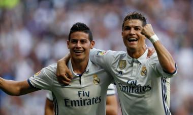 James Rodriguez și Cristiano Ronaldo
