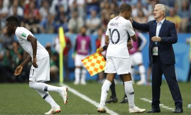 Kylian Mbappe și Didier Deschamps