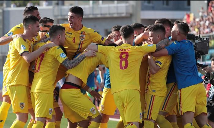 tricolori bucurie romania U21 euro 2019