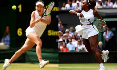 Simona Halep și Serena Williams