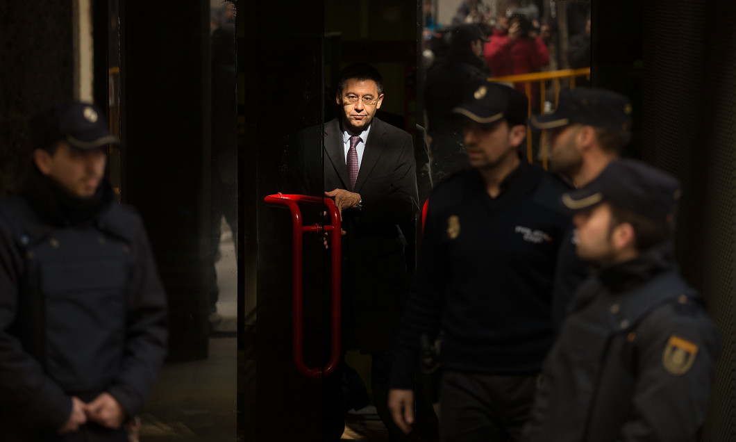 FC Barcelona President Josep Maria Bartomeu Arrives At Madrid High Court