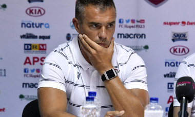 FOTBAL:CONFERINTA DE PRESA RAPID BUCURESTI, LIGA 2 CASA PARIURILOR (2.08.2019)