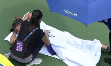accidentare halep wuhan