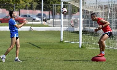 FOTBAL:ANTRENAMENT OFICIAL FCSB INAINTEA MECIULUI CU RAPID VIENA, LIGA EUROPA (29.08.2018)