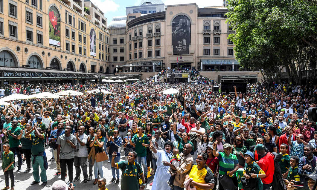 England v South Africa - Rugby World Cup 2019 Final viewing at Nelson Mandela Square