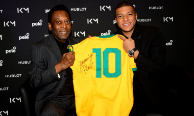 """Hublot Loves Football"" : Pele & Kylian Mbappe Meeting In Paris"