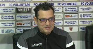 Mihai Teja, antrenorul echipei FC Voluntari / Captură Digi Sport