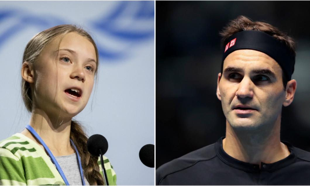 Greta Thunberg Roger Federer