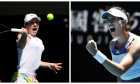 collage simona halep garbine muguruza