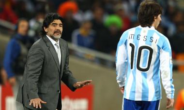 argentina diego maradona leo messi