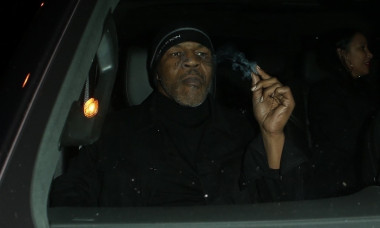 Iron Mike Tyson leaves Craig's in West Hollywood and fills his ride up with smoke!