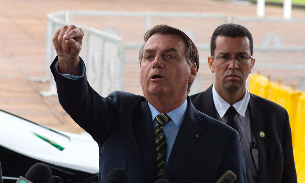 Brazilian President Jair Bolsonaro Speaks with the Press and also Holds a Press Conference Amidst the Coronavirus (COVID - 19) Pandemic