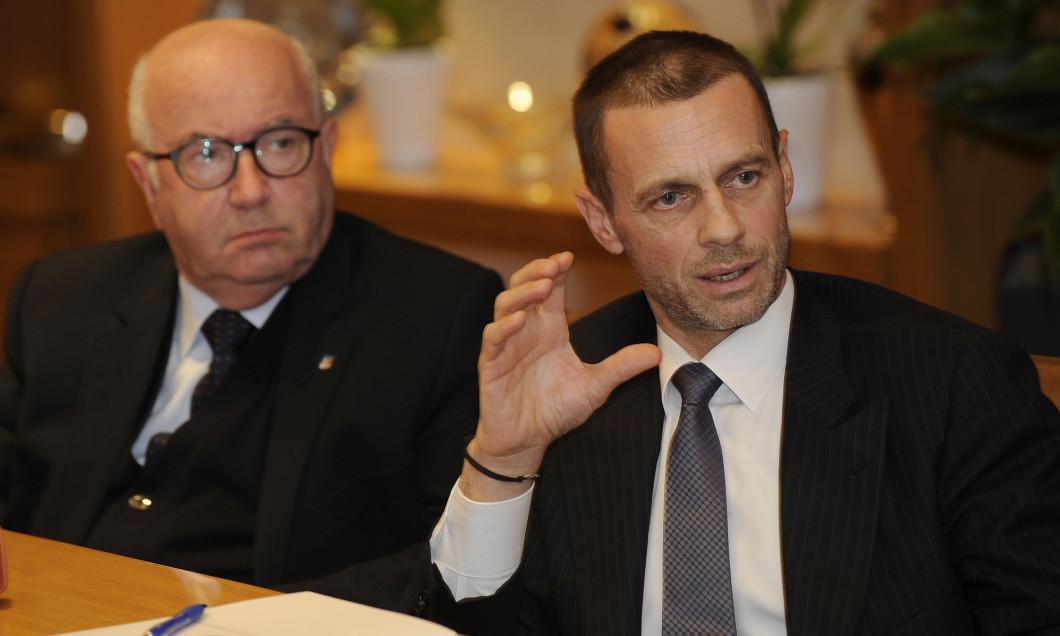 UEFA President Aleksander Ceferin Visit Italian Football Federation Headquarters