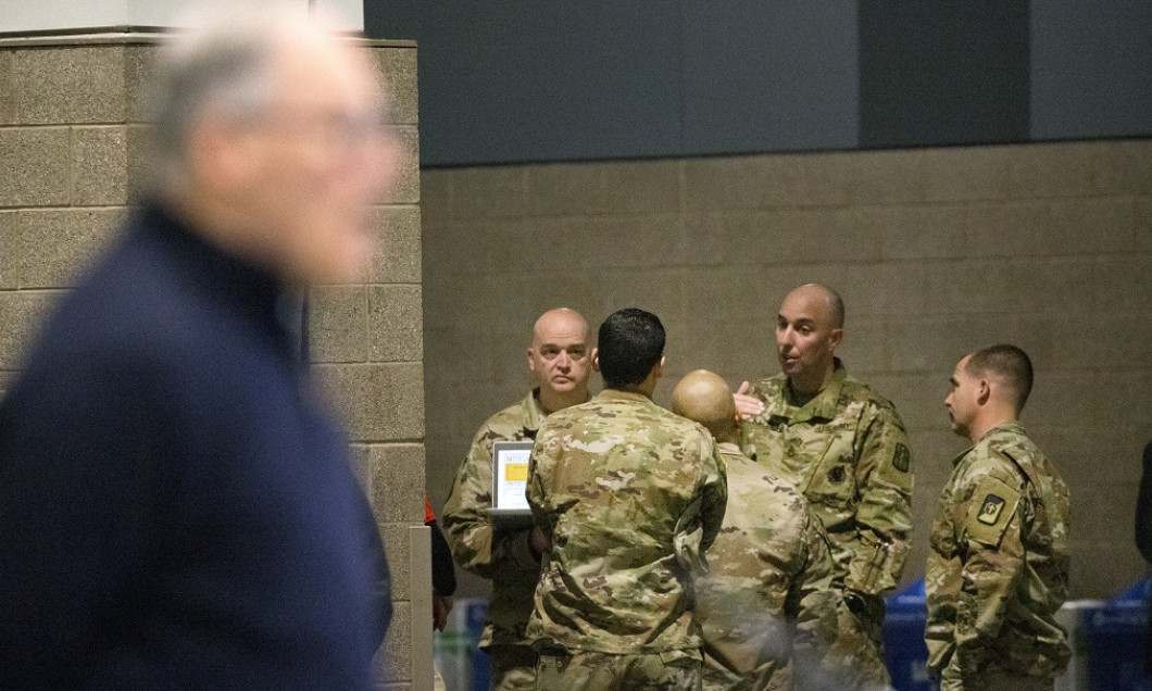 New Army Field Hospital Deployed At CenturyLink Field Event Center In Seattle