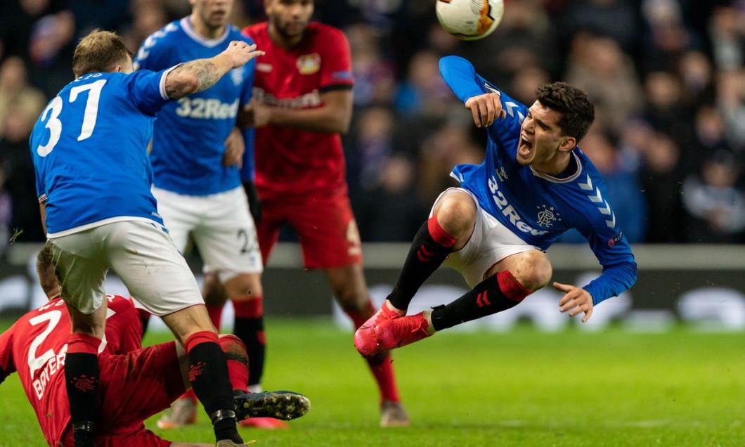 Rangers v Bayer 04 Leverkusen, UEFA Europa League, Football, Round of 16, 1st Leg, Ibrox Stadium, Glasgow, UK - 12 Mar 2020