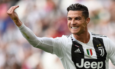Cristiano Ronaldo of Juventus FC reacts during the Serie A