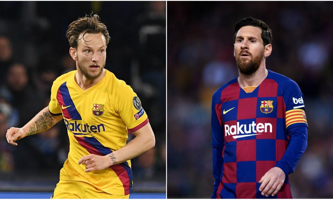 Ivan Rakitic și Leo Messi