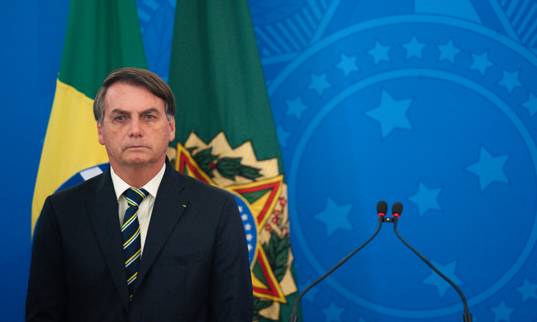 President Jair Bolsonaro Holds a Press Conference about the Coronavirus (COVID-19) Pandemic