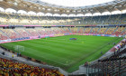 Bucharest, Romania - October 14, 2019: General view of National Arena Stadium during Romanian team official training before the Euro 2020 game with No