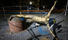 Zlatan Ibrahimovic statue destroyed, Malmo, Sweden - 05 Jan 2020