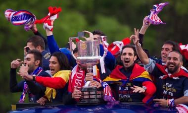 Atletico de Madrid Celebrate Winning Copa del Rey