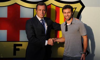 Barcelona Unveils New Player Javier Mascherano