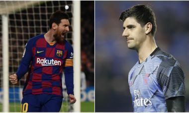 Leo Messi și Thibaut Courtois
