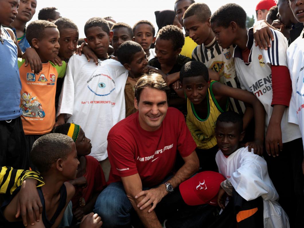 Roger Federer Visits Ethiopia