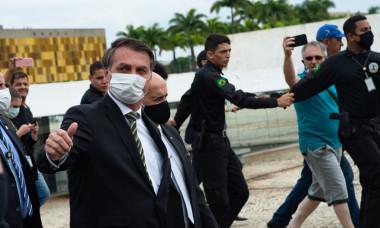 President Jair Bolsonaro Meets with Members of the Supreme Court (STF) Amidst the Coronavirus (COVID - 19) Pandemic