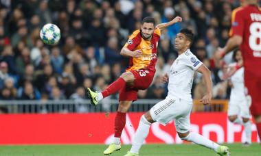 Florin Andone, în Real Madrid - Galatasaray / Foto: Profimedia
