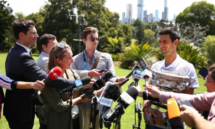 2020 Australian Open Men's Trophy Media Opportunity