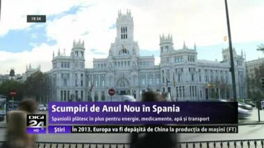Spaniolii plătesc mai mult pentru energie, apă și transport