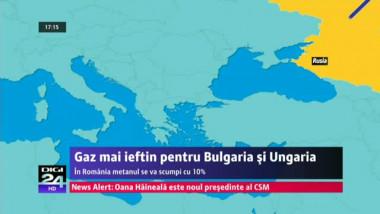 Reducere de la ruși: gaz mai ieftin pentru Bulgaria şi Ungaria
