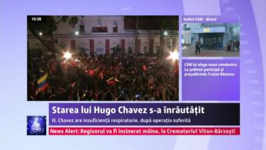 Hugo Chavez a intrat în insuficienţă respiratorie. Puterea de la Caracas face apel la calm