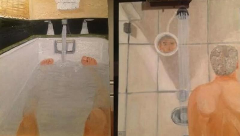 Nud în baie, autoportret | youtube.com